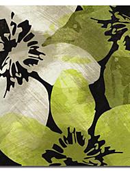 Недорогие -Листья растянутыми холсте Абстрактные