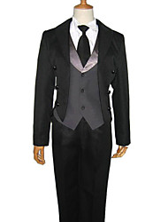Inspired by Black Butler Sebastian Michaelis Anime Cosplay Costumes Cosplay Suits Solid Long Sleeve Vest Shirt Pants Tuxedo Tie ForMale