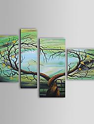 Pintados à mão Abstrato 4 Painéis Tela Pintura a Óleo For Decoração para casa