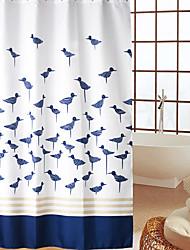 economico -Continental Blue Birds modello impermeabile spessa poliestere tenda della doccia