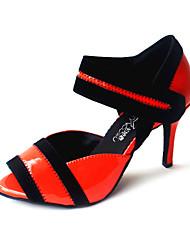 economico -Da donna Balli latino-americani Liscio Finta pelle Tacchi Tacco su misura Rosso Giallo Arancione Fucsia Personalizzabile