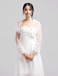 cheap -Lace / Tulle Wedding / Party Evening / Casual Wedding  Wraps With Coats / Jackets