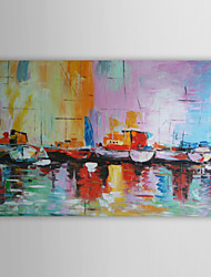 cheap -Oil Painting Hand Painted - Abstract Modern Canvas One Panel