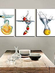 cheap -Canvas Set Still Life Classic Traditional, Three Panels Horizontal Print Wall Decor Home Decoration
