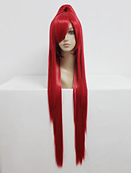 economico -Parrucche Cosplay Fairy Tail Erza Scarlet Rosso Lungo / Dritto Anime Parrucche Cosplay 100 CM Tessuno resistente a calore Donna