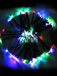 Недорогие -Красочные 12M 100LED светов шнура Синяя Кукуруза Новогоднее украшение Фея Света (цис-57180)