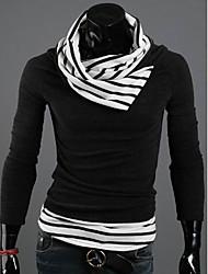 billige -Herre Sweatshirt - Stribet Farveblok, Trykt mønster