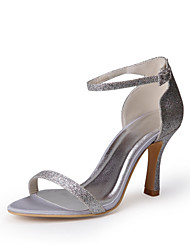cheap -Tasteful Sparking Glitter Peep Toe Sandals with Buckle Wedding Shoes