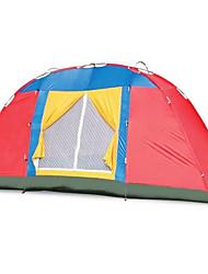Недорогие -8 человек На открытом воздухе Водонепроницаемость, Дожденепроницаемый, Хорошая вентиляция Однослойный Палатка 1000-1500 mm для Пляж  Фиберглас, Нержавеющая сталь, Полиэстер