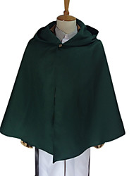 Ispirato da Attack on Titan Levy Anime Costumi Cosplay Cosplay Tops / Bottoms Tinta unita Manica lunga Cappotto Maglietta Pantaloni