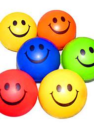 Недорогие -Happy Face образцу снятие стресса резиновые шары (случайный цвет)