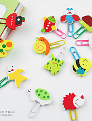 cheap -Wooden Animal Head Paper Clips(12 PCS)