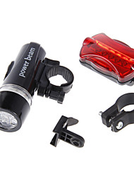 cheap -5 LED Kit Bike Front Light + Rear Flashlight Multi-Functional Waterproof 5 LED Bike Head Light + Rear Flashlight