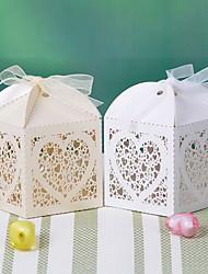 suporte de papel de papel favor com fitas favor caixas-12 favores de casamento