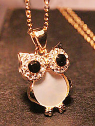 cheap -Women's Rhinestone Alloy Pendant Necklace Long Necklace - Rhinestone Shell Alloy Vintage Cute Style Fashion European Owl Necklace For