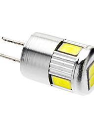 G4 LED-spotlys 6 leds SMD 5730 Kold hvid 220-250lm 6000K Vekselstrøm 12V