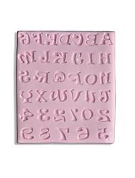 Silicone Sugarcraft Mold 26 Alphabet Letters & Number(color sent randomly)