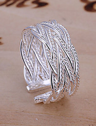 cheap -Women's Band Ring / Cuff Ring - Alloy European, Fashion, Open Adjustable Silver For Party / Daily / Casual