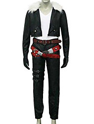 cheap -Inspired by Final Fantasy Squall Leonhart Video Game Cosplay Costumes Cosplay Suits Solid Colored Long Sleeve Coat / Pants / Belt Halloween Costumes