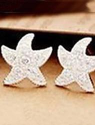 baratos -Brincos Curtos Pedras dos signos Strass Liga Estrela Jóias Para Diário