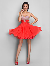 A-Line Princess Strapless Sweetheart Short / Mini Chiffon Cocktail Party Prom Dress with Beading by TS Couture®