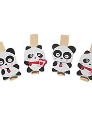 Недорогие -Деревянный зажим, в форме панды (4 шт.)