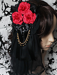 Lolita Jewelry Gothic Lolita Headwear Lolita Lolita Accessories Headpiece Floral For Lace Satin Artificial Gemstones
