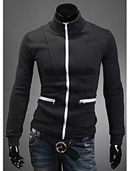 Недорогие -Мужчины стенда воротник контрастного цвета Толстые и пиджаки