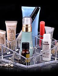 Opbevaringsløsninger til makeup Kosmetik Boks / Opbevaringsløsninger til makeup Akryl Ensfarvet 13.5 x 13.5 x 7.0