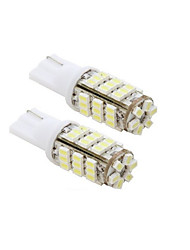 2pcs 42-SMD T15 12V LED Replacement Light Bulbs + STICKER 921 912 906 - White