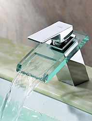 Contemporary  with  Chrome Single Handle One Hole  ,  Feature  for Waterfall Centerset