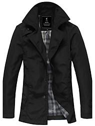 PPZ Mænds Fashion langærmet Jacket (Black)