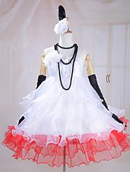 billiga -Inspirerad av Vocaloid Hatsune Miku Video Spel Cosplay-kostymer cosplay Suits Klänningar Ärmlös Klänning Handskar Halsband Pannband