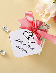 cheap -Personalized Favor Tags - Double Heart (set of 36) Wedding Favors