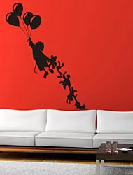 Mennesker Vægklistermærker Fly vægklistermærker Dekorative Mur Klistermærker, Vinyl Hjem Dekoration Vægoverføringsbillede Væg