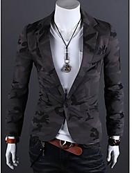 Недорогие -Мужская тонкий пиджаки костюм хлопчатобумажный