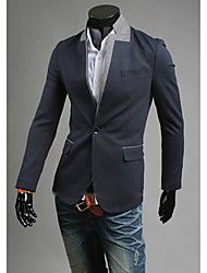 cheap -Men'S Contrast Color Casual Fasion Stand Collar Slim Suit