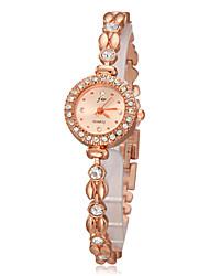 baratos -Mulheres Bracele Relógio imitação de diamante Banda Desenho / Fashion / Elegante Dourada