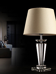 cheap -Modern Concise K9 Crystal Table Lamp Flax Shade