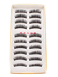 10 paia naturale Handmade di moda lungo False Eyelashes Eye Lashes Per Trucco