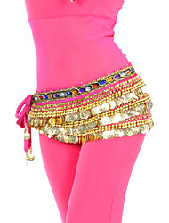 cheap -Belly Dance Belt Women's Training Polyester Beading / Coin / Crystals / Rhinestones / Ballroom