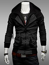 baratos -Homens Chique & Moderno Jacket Hoodie Sólido