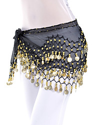 cheap -Dancewear Chiffon Belly Dance Belt With 128 Coins For Ladies(More Colors)