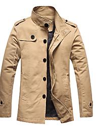 baratos -algodão dos homens lavados jaqueta grossa