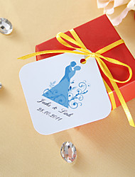 cheap -Personalized Favor Tags - Bride and Groom (set of 36) Wedding Favors