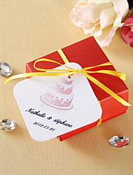 cheap -Personalized square tags - Cake (set of 36) Wedding Favors Beautiful