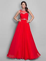 Uma linha de princesa jóia joalheira vestido de baile de chiffon chiffon com beading by ts couture®