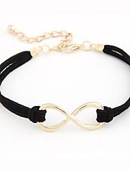 Nombre d'alliage de mode en simili-cuir avec 8 de bracelet pour les femmes (Plus de couleurs)
