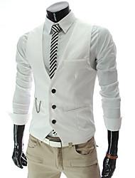 economico -UOMO V-Neck Vest Fasion pura molle della maglia di colore