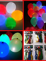Недорогие -100шт 7-цветный светодиодный мигающий Воздушные шары (случайный цвет)